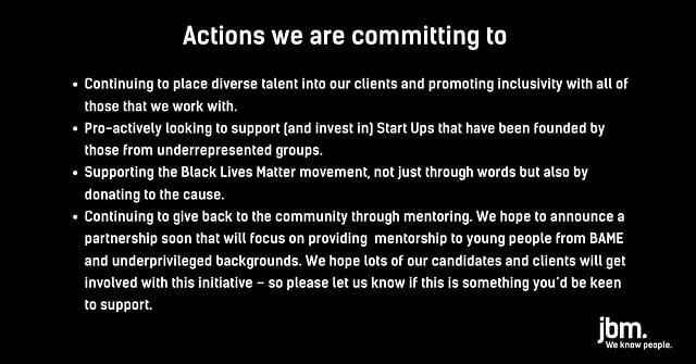 JBM - BLM Pledge